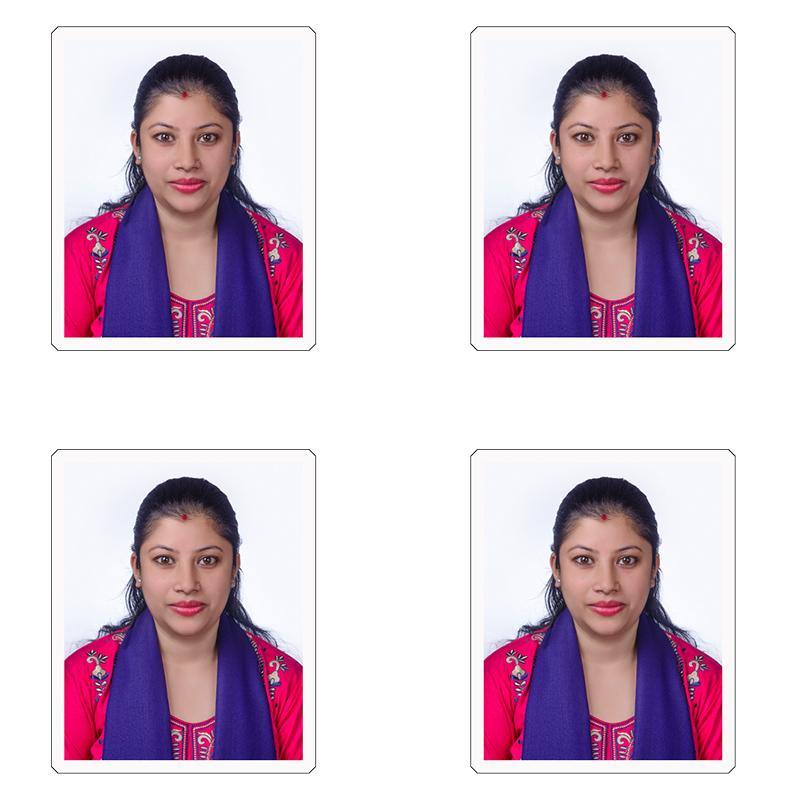 Call a photographer at home for Passport/Visa Photography
