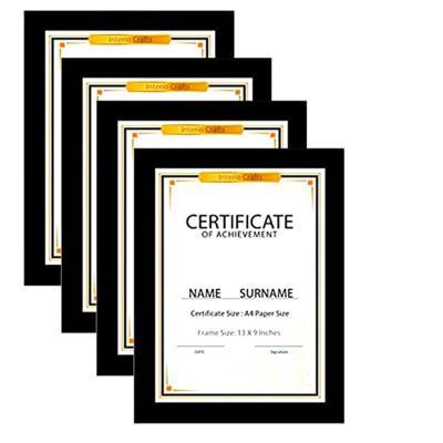 certificate A4 frame
