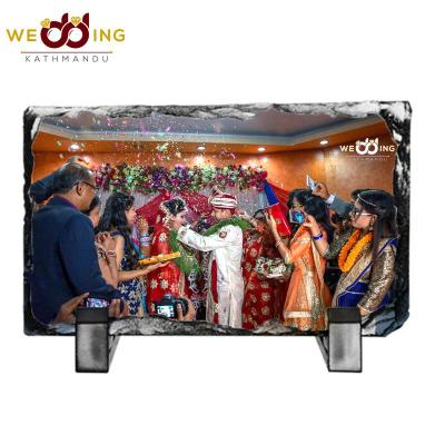 Personalized Sublimation Printed Rock-Slate Photo